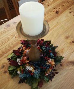 Candelabro flores preservadas