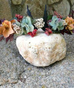 Corona floral forrada